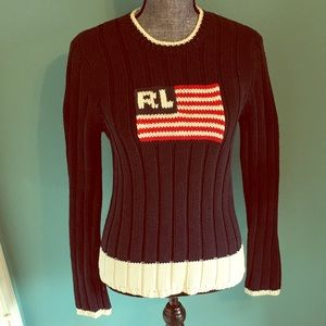 Vintage Ralph Lauren USA Flag Sweater Pullover M